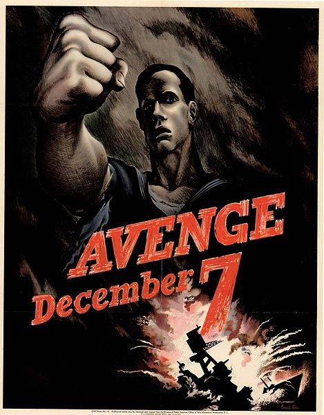 Avenge December 7 -color- WW2 Poster