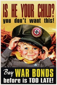 Is He Your Child war bonds WW2 Poster