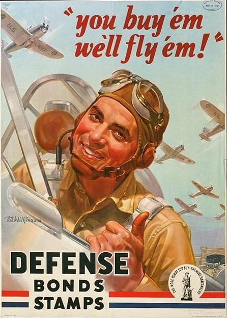 You buy 'em, we'll fly 'em WW2 Poster