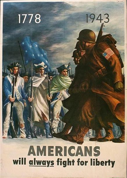 Americans will always fight for liberty WW2 Poster