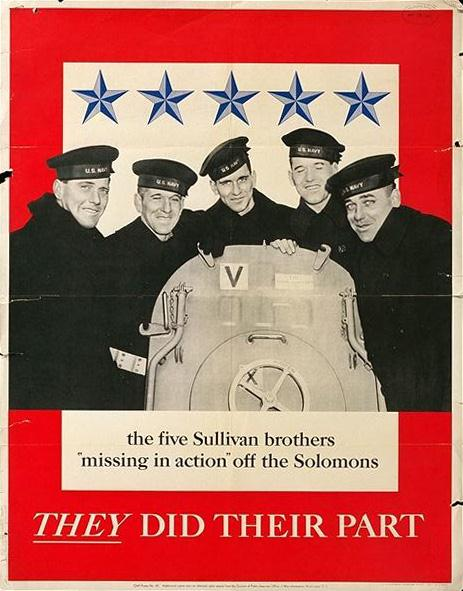 The 5 Sullivan brothers WW2 Poster
