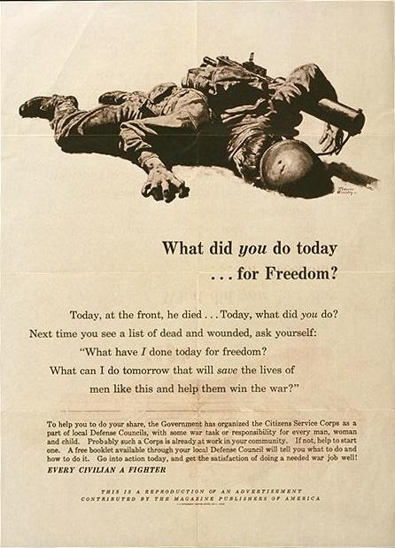 What did you do today for freedom WW2 Poster