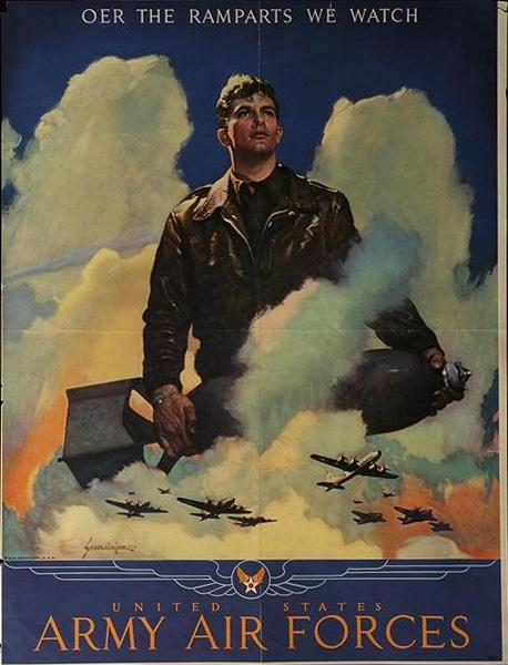 Army Air Force - Oer the ramparts we watch WW2 Poster