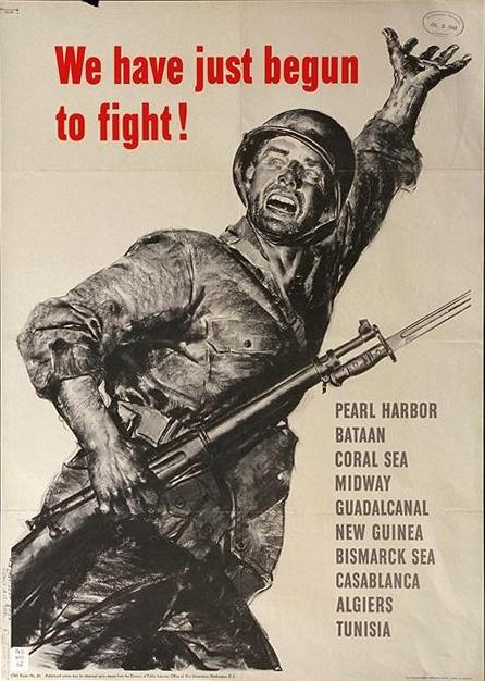 We have just begun to fight WW2 Poster