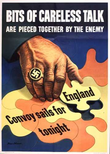 Bits of careless talk WW2 Poster
