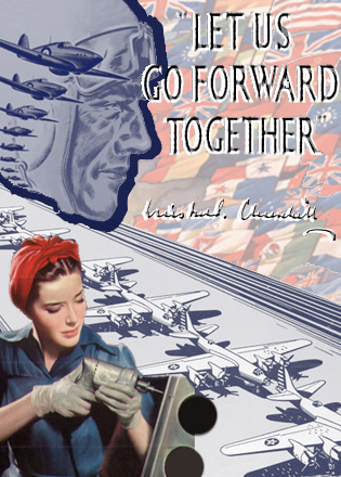 Let us go forward together WW2 Poster