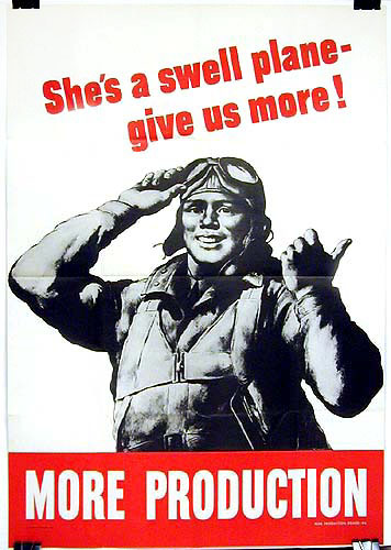 She's a swell plane - give us more WW2 Poster