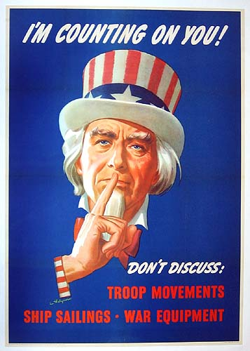 Uncle Sam - I'm counting on you WW2 Poster