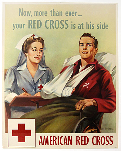 Now more than ever - Red Cross WW2 Poster