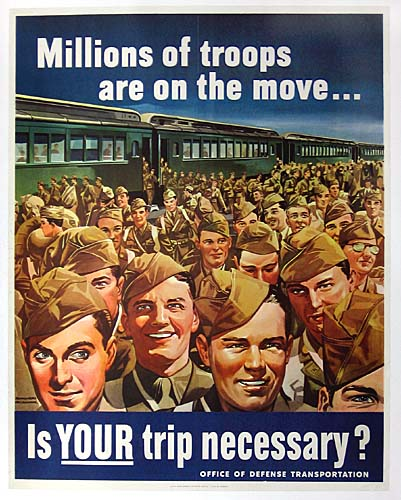 Millions of troops are on the move WW2 Poster