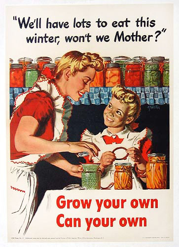 Grow your own - can your own WW2 Poster