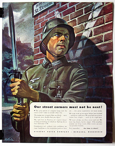 Our street corners must not be next WW2 Poster