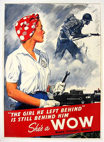 She's a WOW WW2 Poster