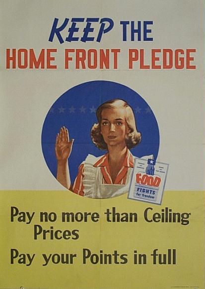 Keep the home front pledge WW2 Poster