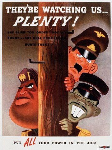 They're watching us plenty WW2 Poster