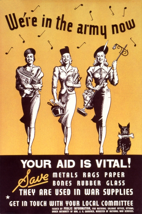 We're in the army now - your aid is vital WW2 Poster