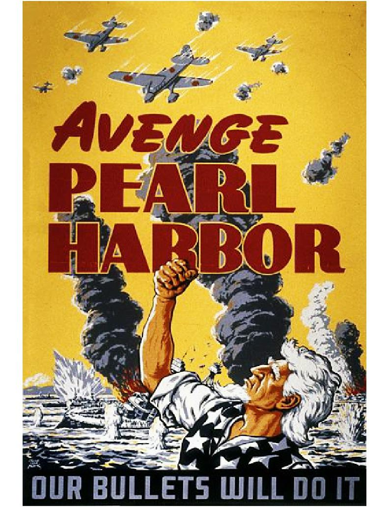 Avenge Pearl Harbor - Our bullets will do it WW2 Poster