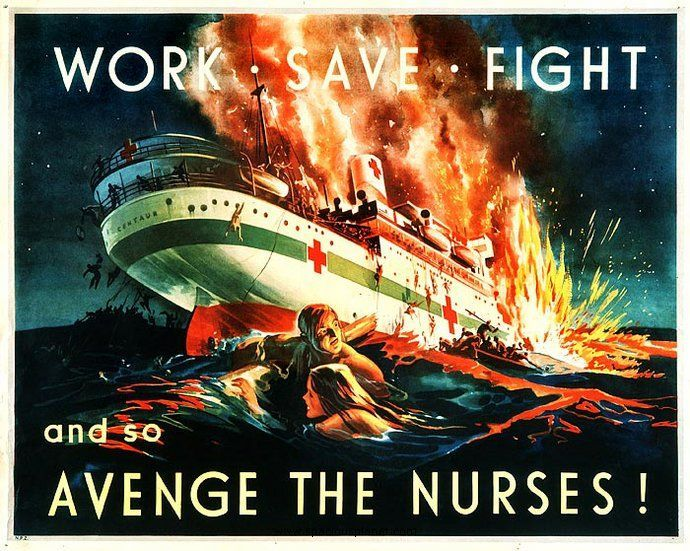 Avenge the nurses WW2 Poster