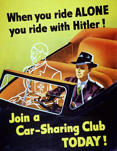 When you ride alone WW2 Poster