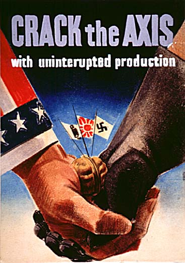 Crack the Axis WW2 Poster