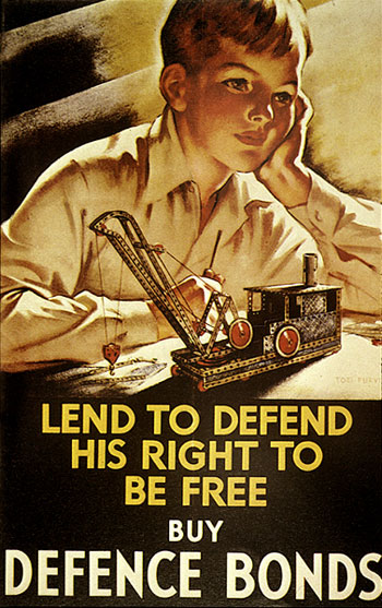 Buy defence bonds WW2 Poster
