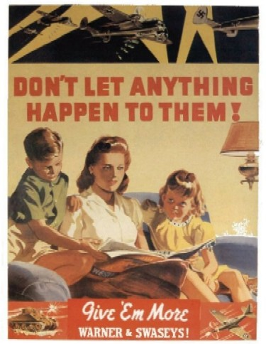 Don't let anything happen to them WW2 Poster