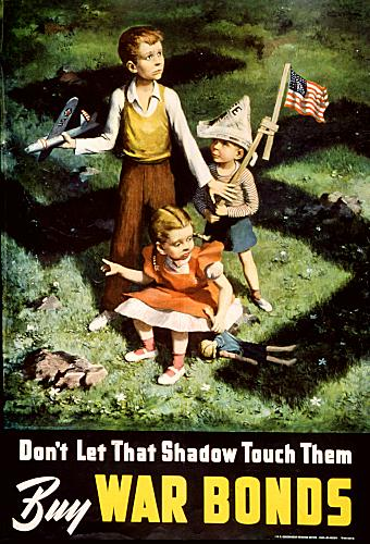 Don't let that shadow touch them WW2 Poster