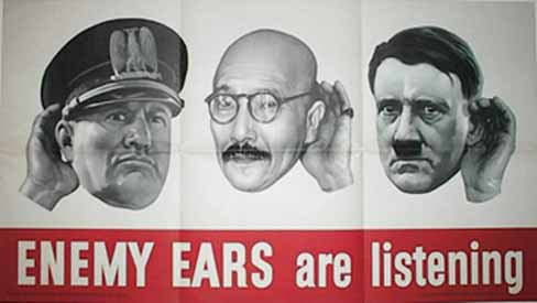 Enemy ears WW2 Poster