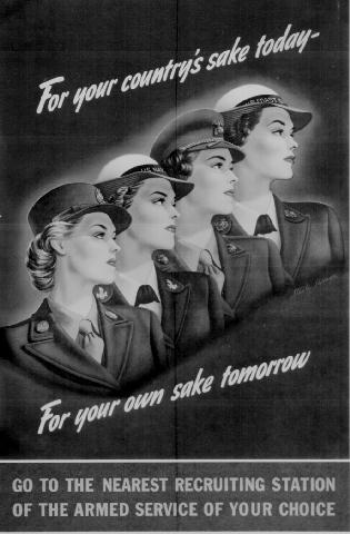For your countrys sake - woman recruiting WW2 Poster