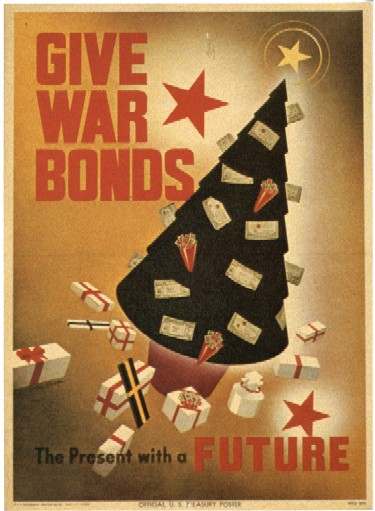 Give war bonds - The present with a future WW2 Poster