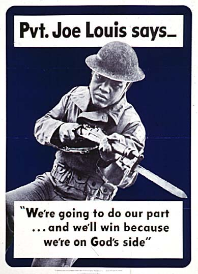 Pvt Joe Louis says WW2 Poster