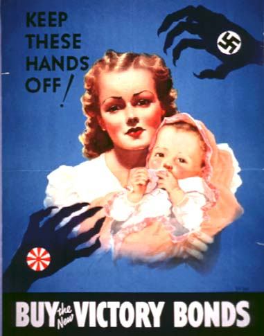 Keep these hands off WW2 Poster