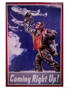 Coming right up WW2 Poster