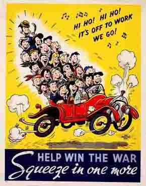 Car club Hi Ho Hi Ho WW2 Poster