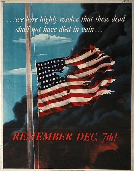 Remember Dec 7th -larger- WW2 Poster
