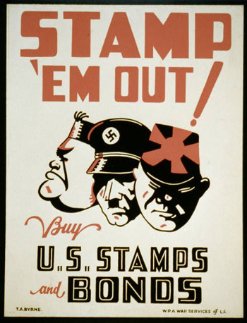 Stamp them out WW2 Poster