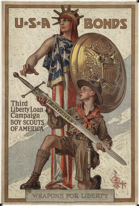 Boy Scout bonds WW2 Poster