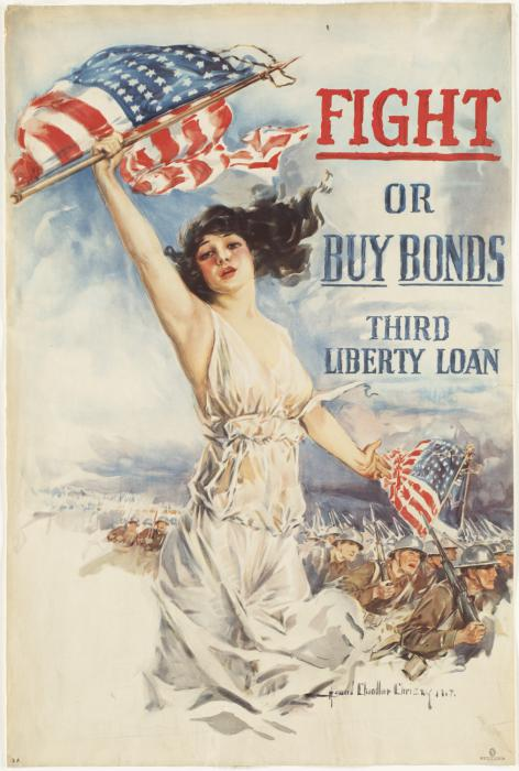 Fight or buy bonds WW2 Poster